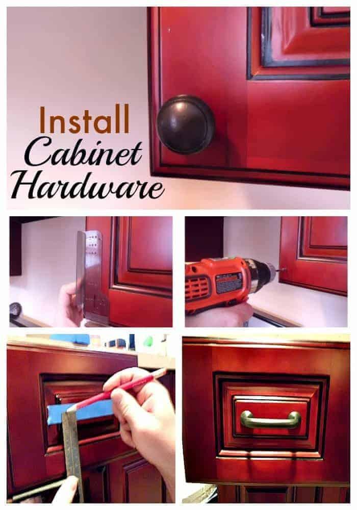 Installing kitchen cabinet hardware for Adding hardware to kitchen cabinets