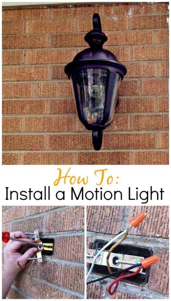Installing a Motion Light | www.chatfieldcourt.com
