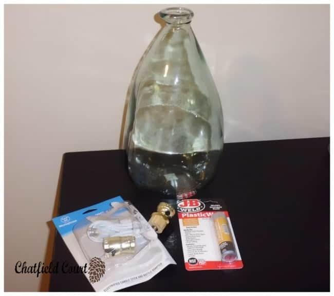 Making a Lamp out of a glass bottle | chatfieldcourt.com