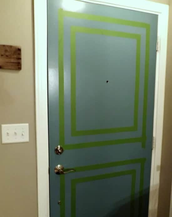 Painted Front Interior Door | www.chatfieldcourt.com
