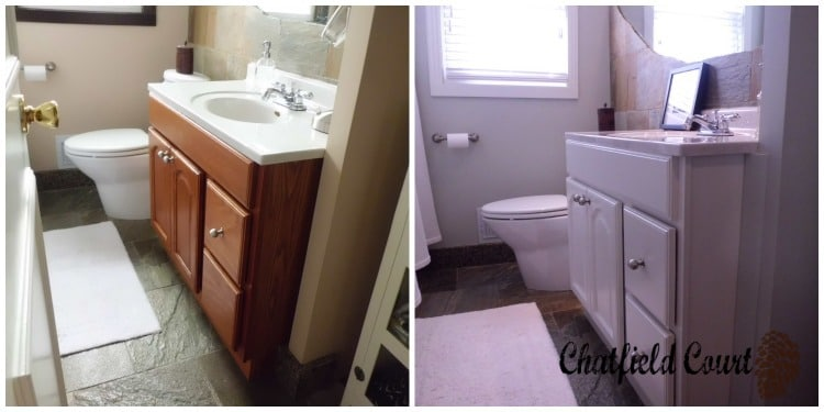 Bathroom Redo Details and Space-Saving Ideas | www.chatfieldcourt.com