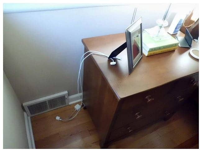 How to hide phone cords in a nightstand | chatfieldcourt.com