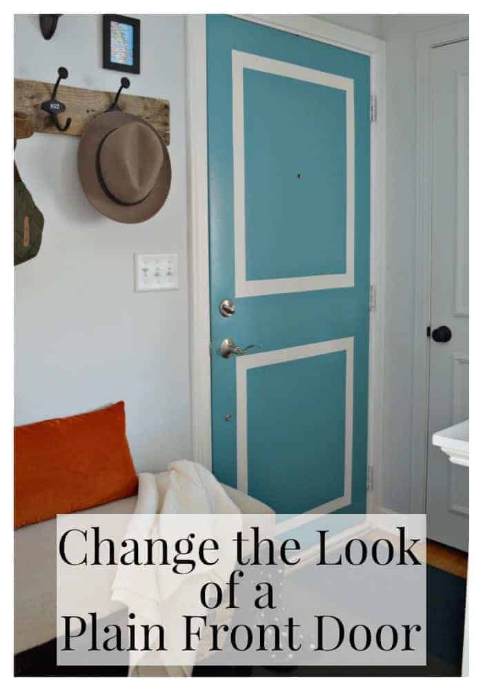 Changing the look of a plain front door using FrogTape and paint. | chatfieldcourt.com