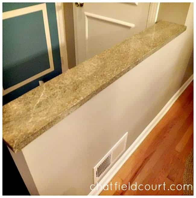 green granite knee wall
