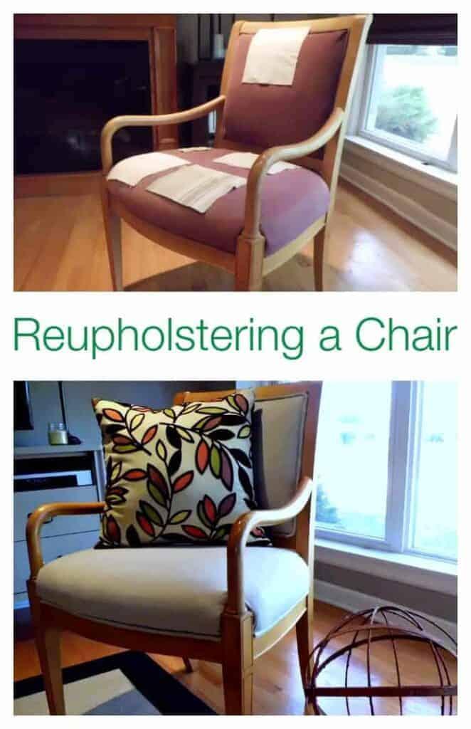 Reupholstering a Chair | chatfieldcourt.com