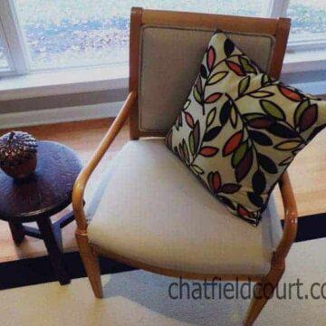 Reupholstering a Chair | www.chatfieldcourt.com