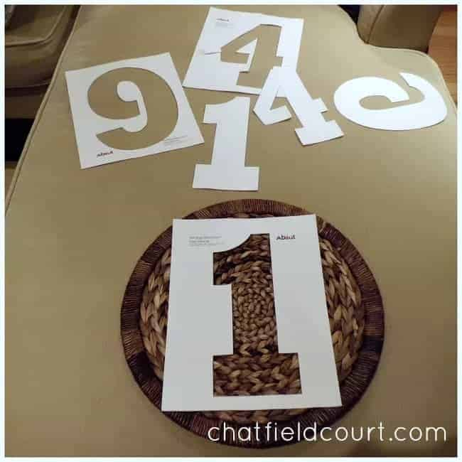 Easy Number Craft | www.chatfieldcourt.com