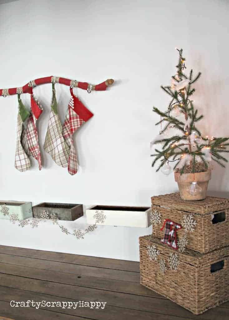 hanging your stockings when you don 39 t have a mantel. Black Bedroom Furniture Sets. Home Design Ideas