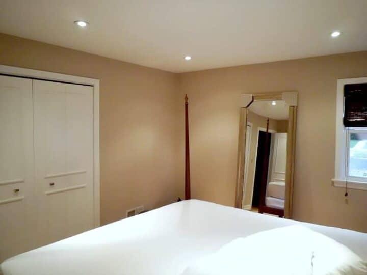 corner of master bedroom before makeover