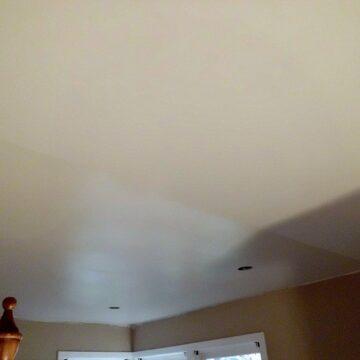 Paint sheen on bedroom ceiling