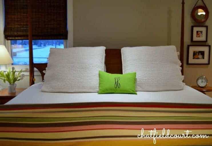 A small master bedroom gets a big makeover. | www.chatfieldcourt.com