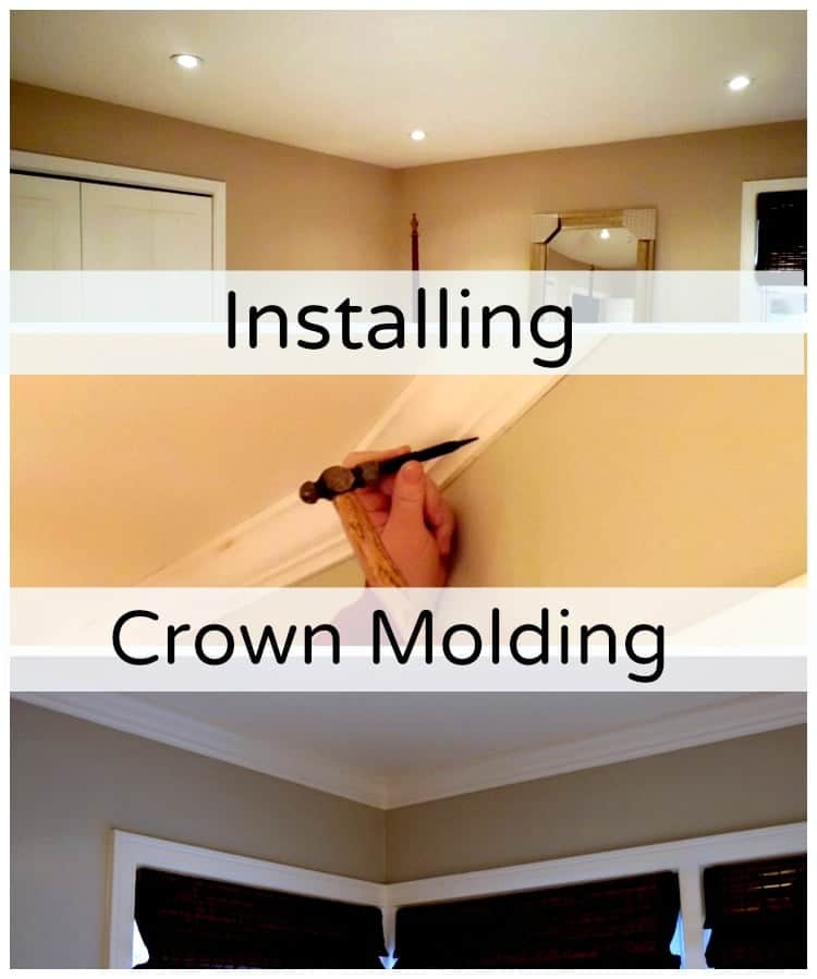 Installing crown molding in a bedroom is an easy DIY project and it will give your room a finished look. | chatfieldcourt.com
