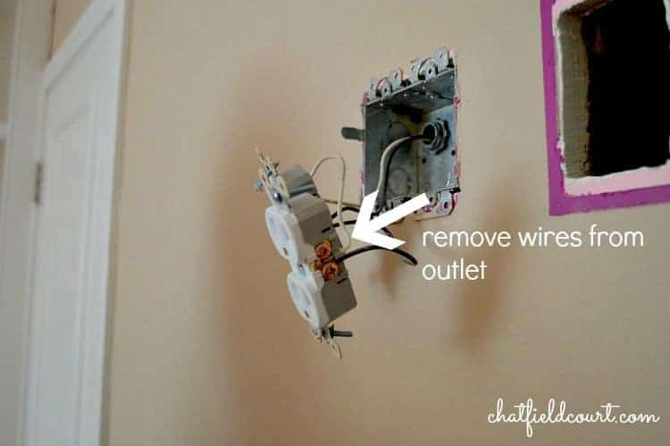 Moving an Electrical Outlet | www.chatfieldcourt.com