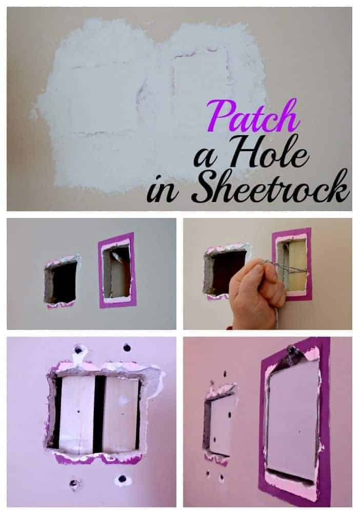 Step by step instructions on how to patch a large hole in sheetrock. Any easy DIY fix. | Chatfield Court