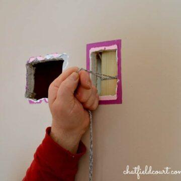 Fixing holes in sheetrock