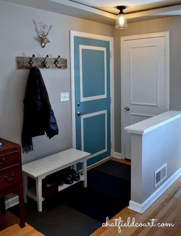Painting a door the same color as your walls for Small entry door