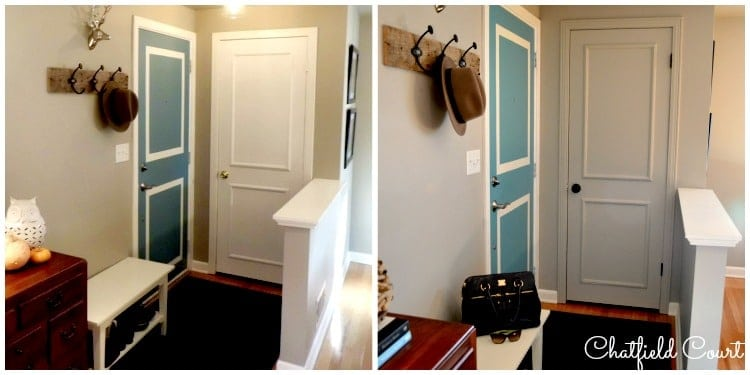 Painting a Door the Same Color as Your Walls by Chatfield Court