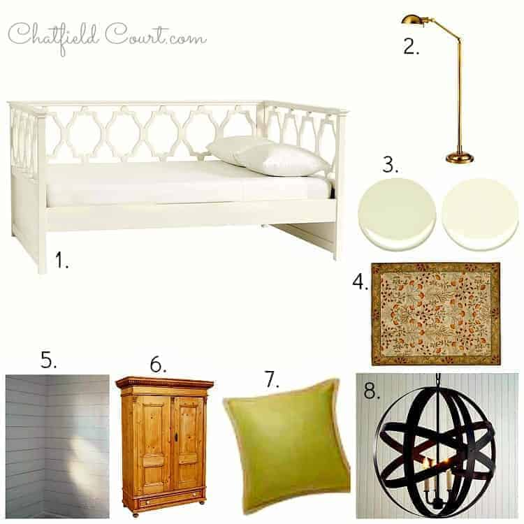 Guest Bedroom #2 Plans and Mood Board | Chatfield Court