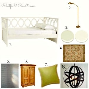 Guest Bedroom #2 Plans and Mood Board