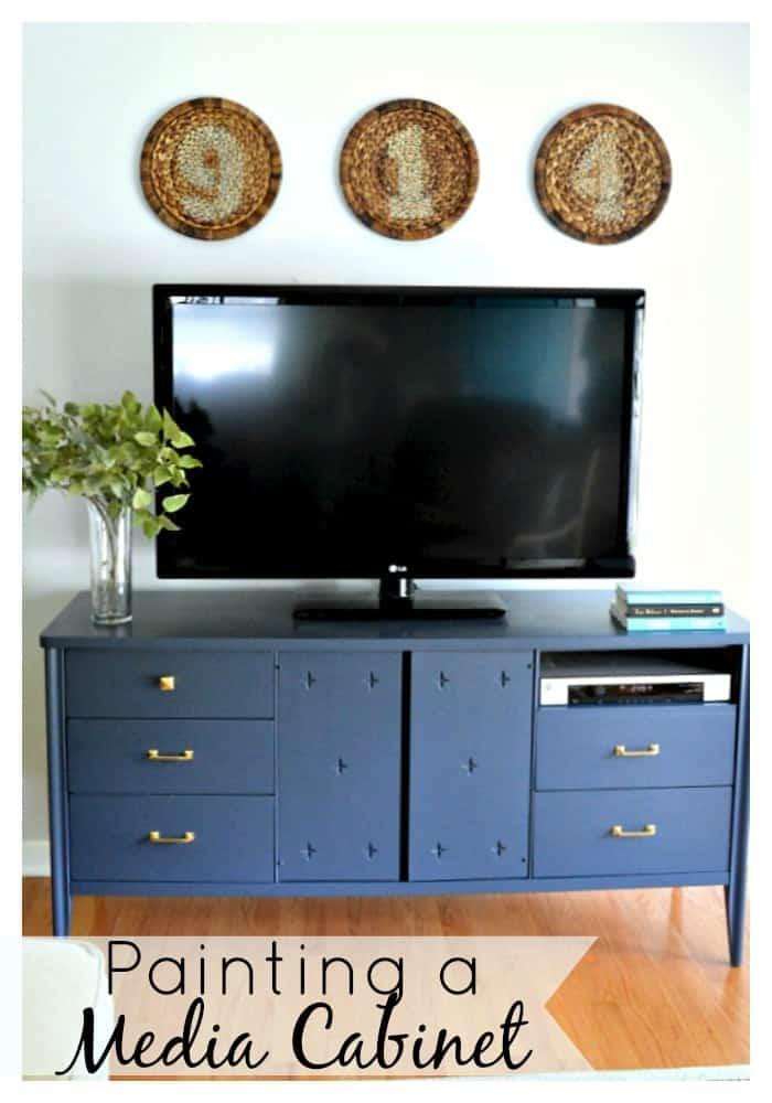 Painting A Media Cabinet | www.chatfieldcourt.com