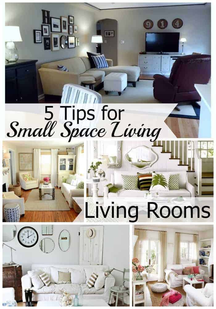 5 tips for small space living living room. Black Bedroom Furniture Sets. Home Design Ideas