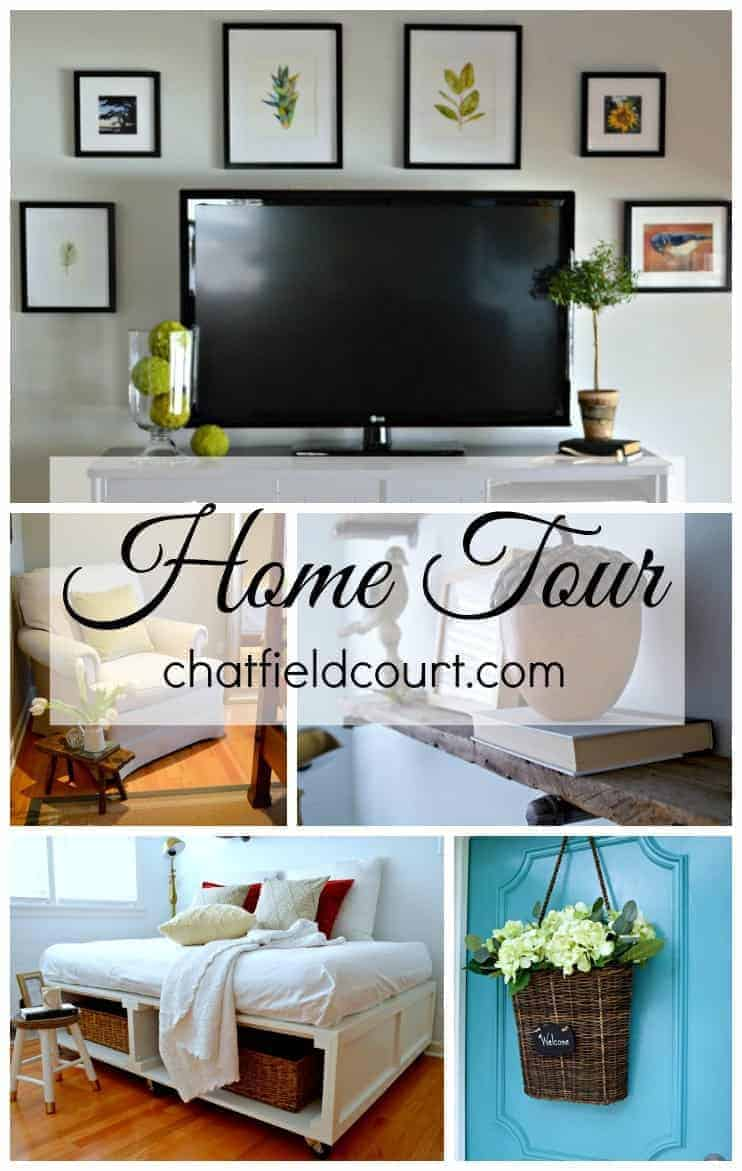 Home tour of a small 50's brick ranch | chatfieldcourt.com