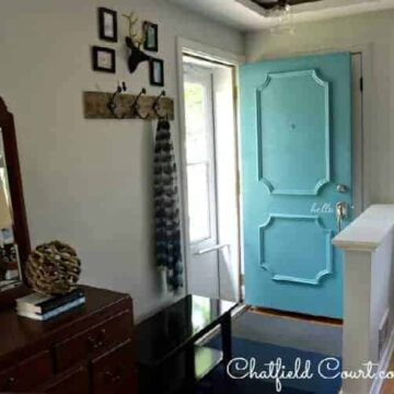Small entryway and front door