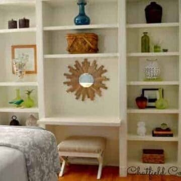 A bedroom bookcase