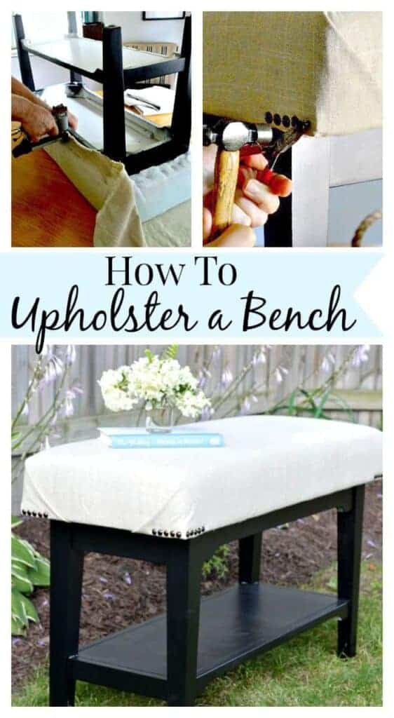 How to Upholster a Bench | www.chatfieldcourt.com