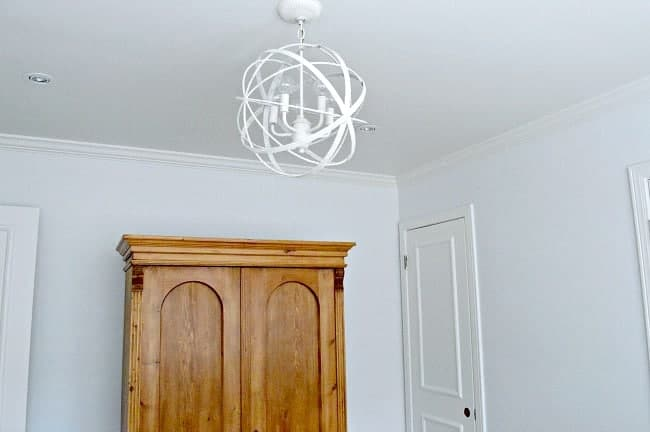 A light fixture and armoire