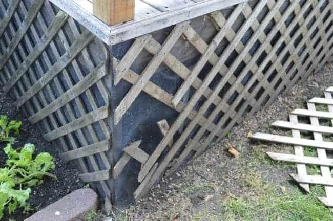 broken lattice under deck