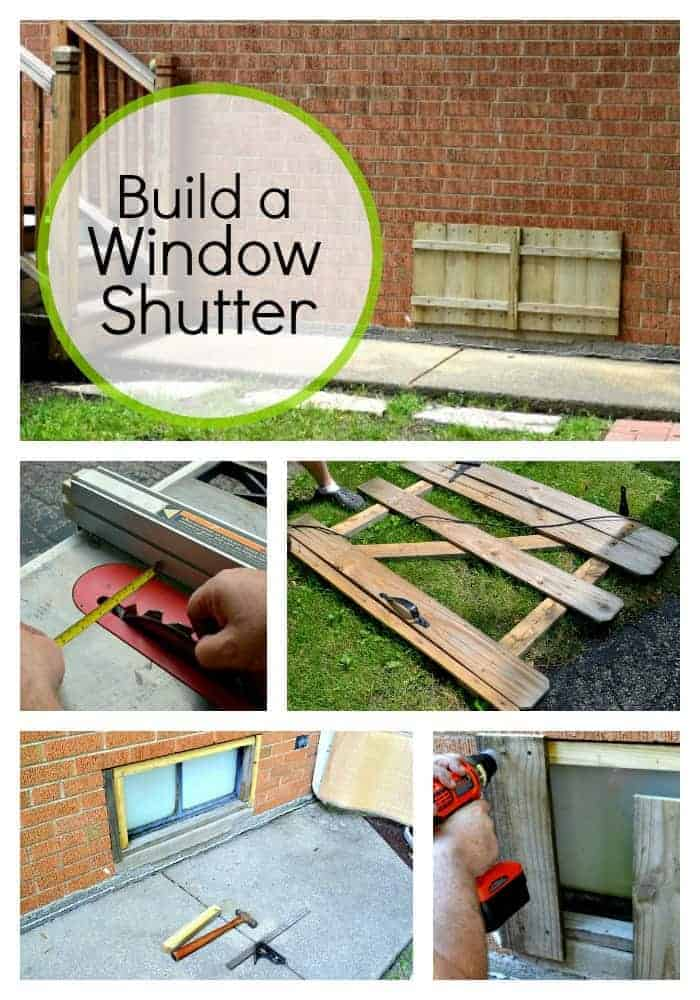 Building a Basement Window Shutter | Chatfield Court.com