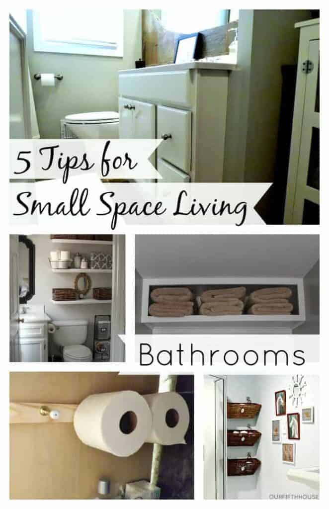 5 great tips for small space living with bathrooms. | chatfieldcourt.com