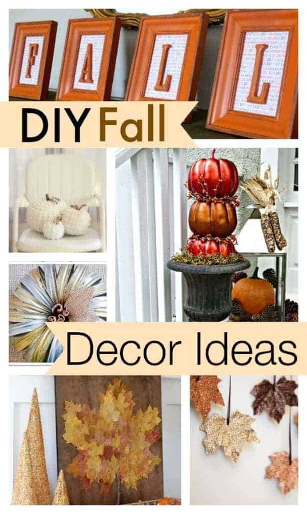 10 diy fall decor ideas for Homemade fall decorations for home