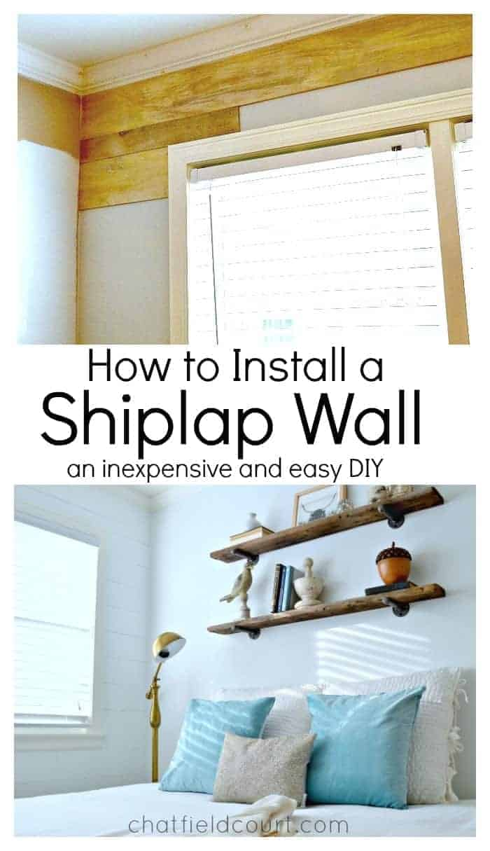 How to install a shiplap wall How to redo your room without spending money