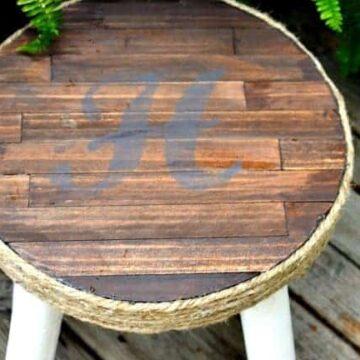 Wood top stool