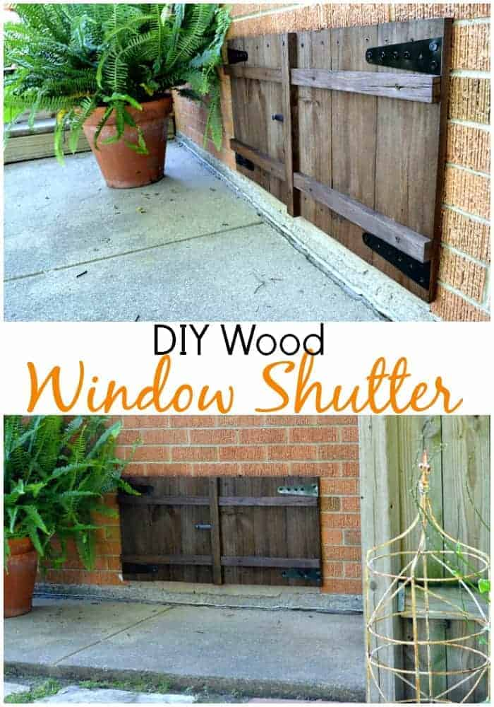 DIY window shutters on a basement window