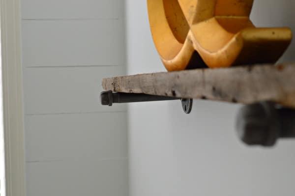 Barn Wood Industrial Shelves | www.chatfieldcourt.com