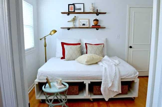 Home tour guest bedroom diy bed | chatfieldcourt.com
