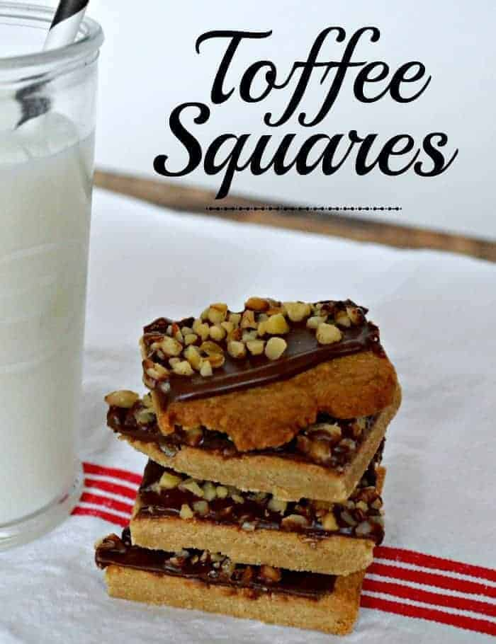 Easy toffee squares recipe, made with Hershey's choocolate | chatfieldcourt.com