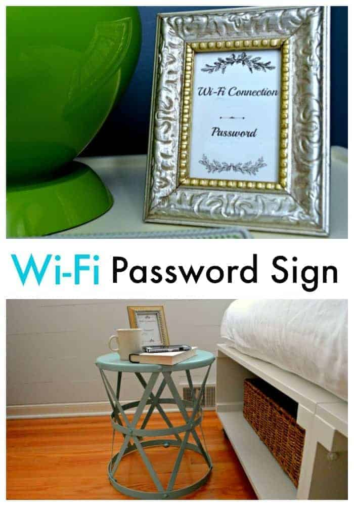 Wi-Fi Info in the Guest Bedrooms | chatfieldcourt.com