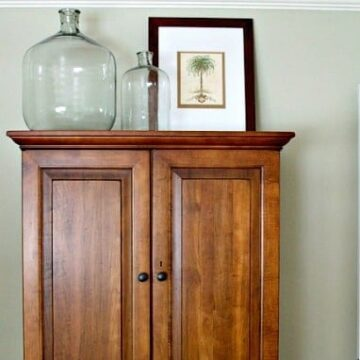 Decor on top of an armoire