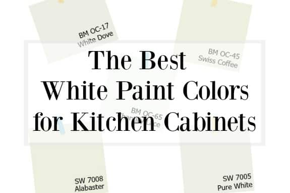 Best White Color For Kitchen Cabinets Choosing the Best White Paint Color for Your Kitchen Cabinets