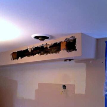 Holes in kitchen soffit