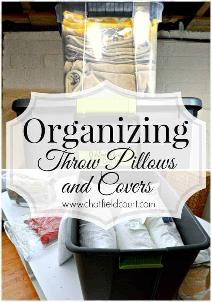 Organizing Throw Pillows and Covers, www.chatfieldcourt.com