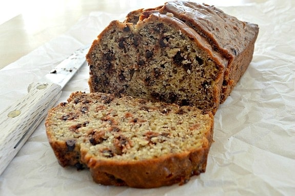 Easy Banana Bread with Chocolate Chips