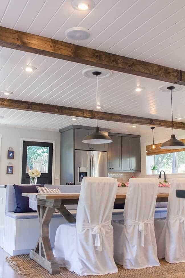 A Plank Ceiling in the Kitchen | chatfieldcourt.com