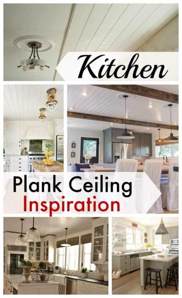 Kitchen plank ceiling inspiration.   www.chatfieldcourt.com