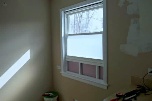 A kitchen window