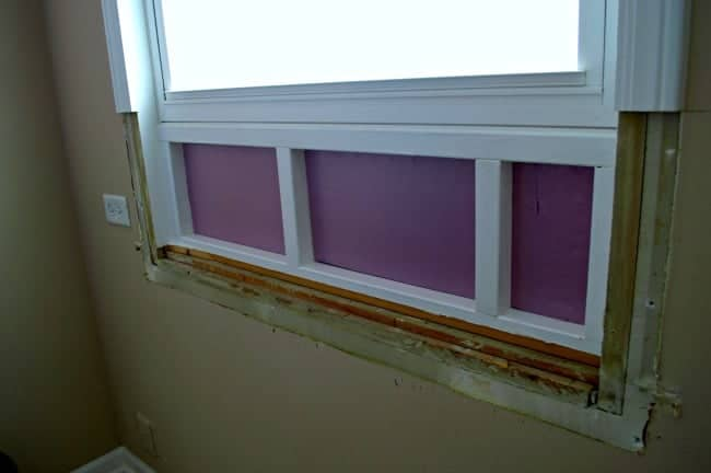 Raising a window sill and patching a large hole. An easy DIY for anyone. www.chatfieldcourt.com